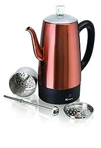 Amazon.com: Euro Cuisine - Cafetera eléctrica de acero ...