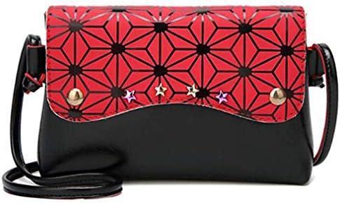 女性用ハンドバッグ、PUレザー女性用リベット、ショルダーバッグ、赤 美しいファッション