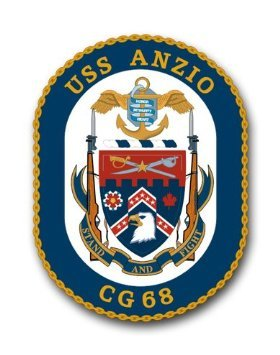 Vinyl USA US Navy Ship USS Anzio CG-68 Decal Sticker 3.8