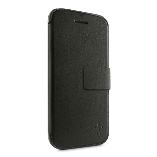 Belkin Natural Grain Wallet Folio Case with Stand for Apple iPhone 5c (Belkin Black Leather Folio)
