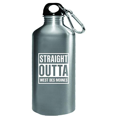 Straight Outta West Des Moines City Cool Gift - Water Bottle]()