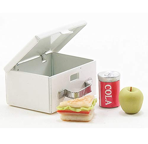 Dollhouse Miniature 1:12 Scale Lunch Box with Food and Drink (Scale 1 12 Miniature)