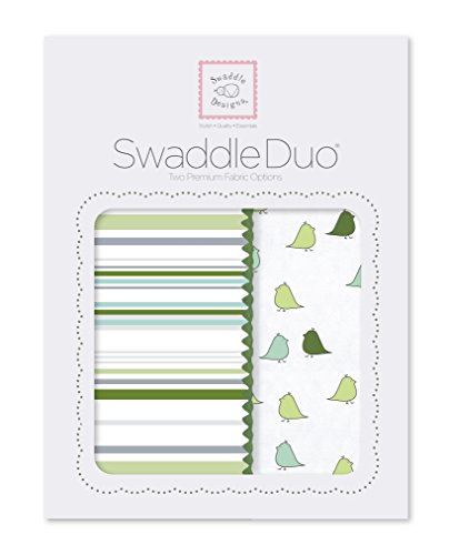 SwaddleDesigns SwaddleDuo Swaddle Blankets Chickies