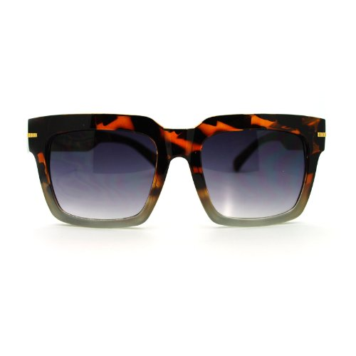 Nerd Luxury Designer Fashion Thick Plastic horned Sunglasses Tortoise - With Nerd Glasses Guys
