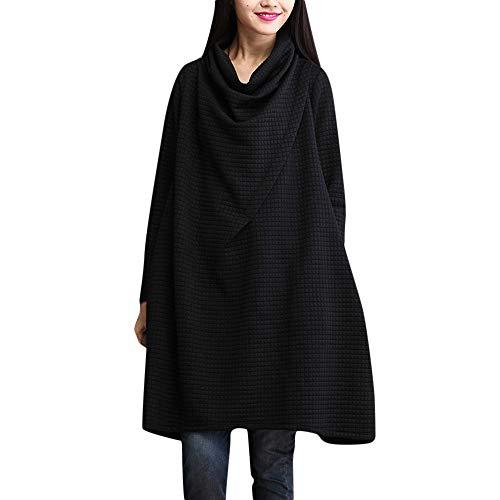 LISTHA Cowl Neck Sweater Dress Oversize Women Loose Swing Pullover Dress Pocket