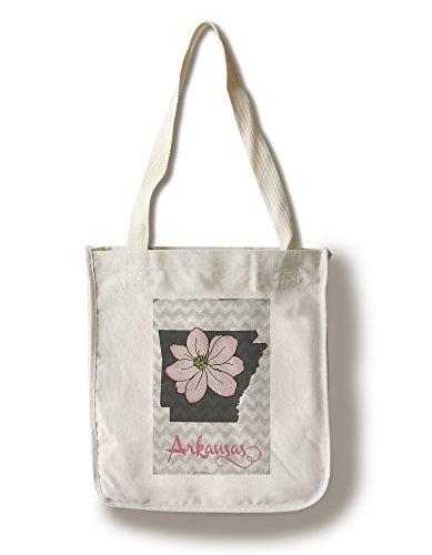 Apple Blossom State Flower - Lantern Press Arkansas - State Flower - Apple Blossom (100% Cotton Tote Bag - Reusable)