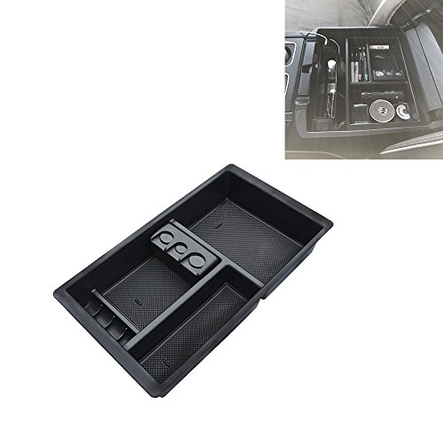 Samlighting Car Center Console Organizer Tray For Chevy Silverado GMC Sierra Yukon (2015-2018)-GM Vehicles Accessories Replaces 22817343 (Full Console w/Bucket Seats ONLY)