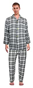 Robes King Men's Classical Sleepwear Cotton Flannel Pajama Set