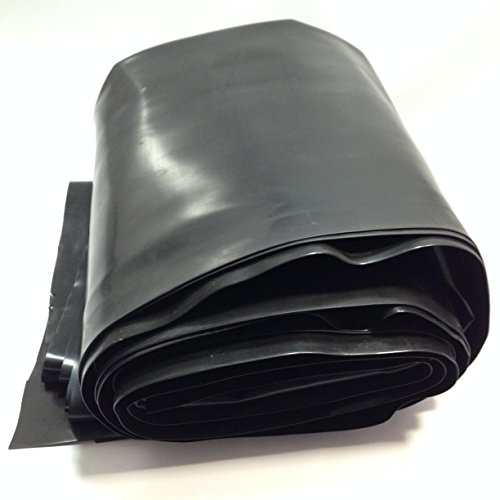 (Custom Pro 12.5 Feet x 10 Feet Super-Flex Pond and Water Garden Liner - Black - Compare to EPDM and PVC Liner - Stronger and Easier to Use - Resists Punctures, Tears, UV and Insects - 20 Year Warranty)