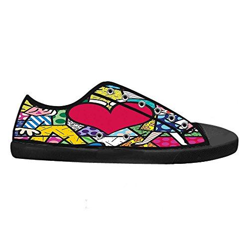 Dalliy Romero Britto Mens Canvas shoes Schuhe Lace-up High-top Sneakers  Segeltuchschuhe Leinwand ...