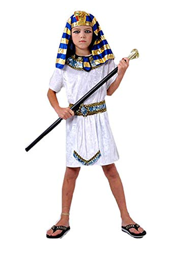 MA ONLINE Children Egyptian Tutankhamun Pharaoh Fancy Outfit Kids Book Week Party Wear Costume 4-6 Years