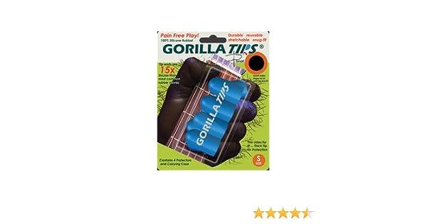 Gorilla Tips 98/GT101BLU - Protector de dedos para guitarra (talla S), color azul: Amazon.es: Instrumentos musicales
