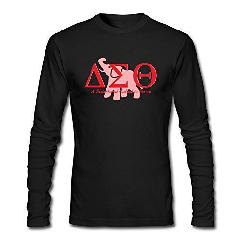 WANTAI Men's Delta Sigma Theta Long Sleeve Cotton T Shirt