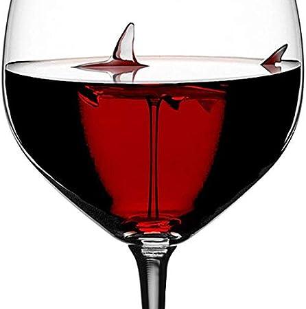 Home+ Vasos de Whisky, Vino Tinto Vidrios con tiburón Dentro Copa de Vidrio sin Plomo Claro for el hogar Partido de la Barra de Cristal (Color : 2pcs)
