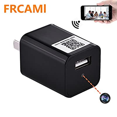 FRCAMI Charger Spy Camera, Wifi 1080P HD Hidden Camera USB Wall Charger Adapter for Phone APP Remote View