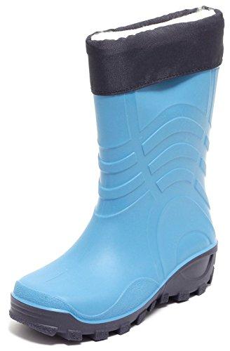 Kinder Regenstiefel gefüttert Jungs Gummistiefel Gr. 25-29 Stiefel Schlupfstiefel Blau