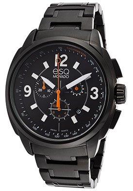 ESQ Excel Men's Watch All Black Monochrome Bracelet Chronograph Dial Watch (Esq Black Watch)