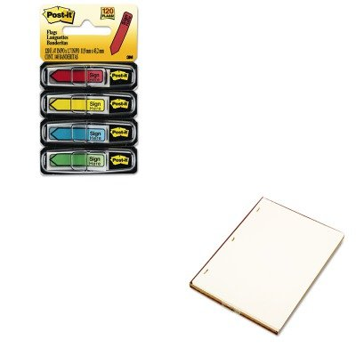 KITMMM684SHWLJ90110 - Value Kit - Wilson Jones Looseleaf Minute Book Ledger Sheets (WLJ90110) and Post-it Arrow Message 1/2amp;quot; Flags (MMM684SH)