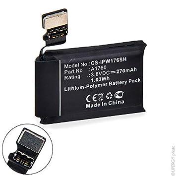 NX - Batería para smartwatch para Apple 3.8V 270mAh: Amazon.es ...