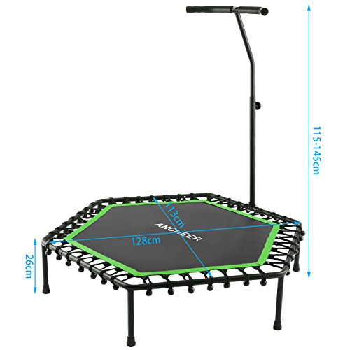 Ancheer Mini Rebounder Trampoline With Handle,Safe Fitness