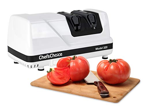 Chef'sChoice 0320000 Chef's Choice 320 Diamond Hone Knife Sharpener, White, 2-Stage Chefs Choice Diamond Hone Manual