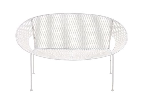 UPC 837303289234, Benzara The Heavenly Metal Garden Bench, White