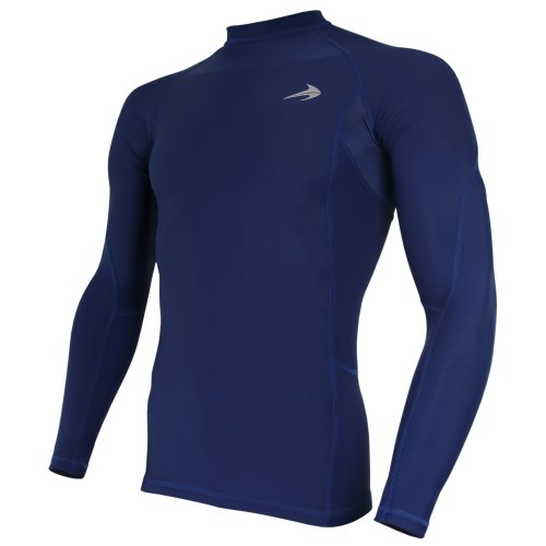 "CompressionZ Long Sleeve Thermal Top Compression T Shirt, Small 34""-37"" - Blue"