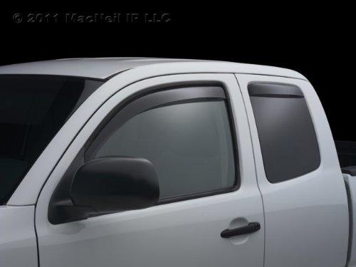 WeatherTech - 82405 - 2007 - 2011 BMW 3-Series E90-E93 Dark Side Window Deflector Full Set
