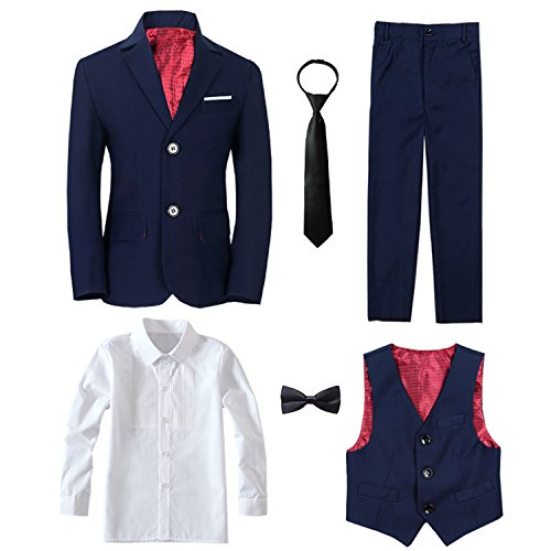 Yanlu 6 Piece Boy's Tuxedos Toddler Formal Suits