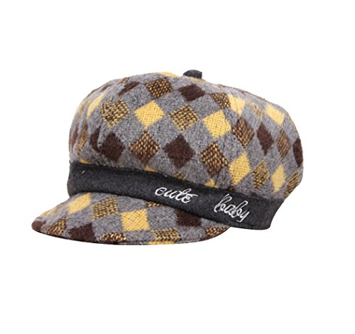 Child Beret 3 Sheet Acvip Girl colori Cap giallo Pattern da baseball Tile Cappello Bonnet BPw85w