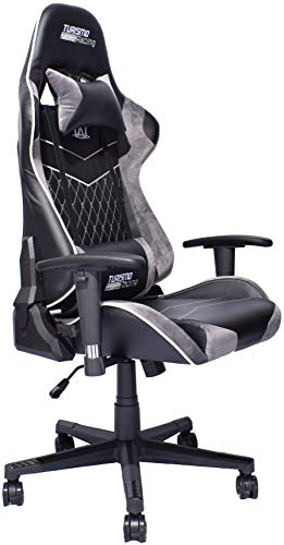 turismo racing tridente series led gaming chair big and tall black and grey alcantara seat. Black Bedroom Furniture Sets. Home Design Ideas