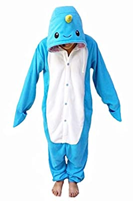 WOTOGOLD Animal Cosplay Costume Narwhal Adult Children Pajamas