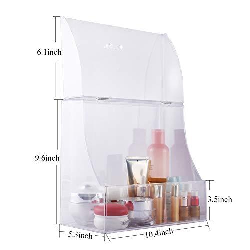Zhiai Acrylic Cosmetics Storage Box Storage Box Display Cabinet Front Cover - Cosmetics Storage for Makeup, Brush, Perfume, Skin Care