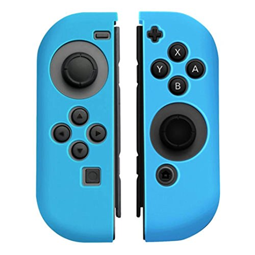 Price comparison product image For Nintendo Switch Anti-slip Silicone Cover Skins Case for Joy-Con Controller (Blue)