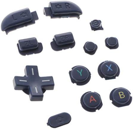 P Prettyia ABXYクロスプレスキーボタン新しいニンテンドー3DSLL / 3DSXLブルーの交換用修理部品