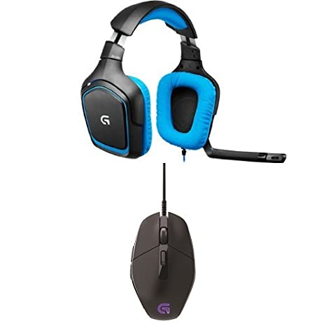 bb2329b9445 Logitech G430 Surround Sound Gaming Headset & Logitech G303 Daedalus Apex  RGB Gaming Mouse