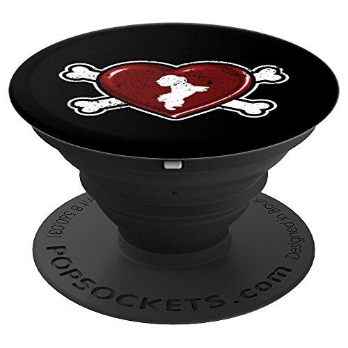 Heart Shaped Dog Bone Shih Tzu - PopSockets Grip and Stand for Phones and Tablets (Tzu Bone Shih)