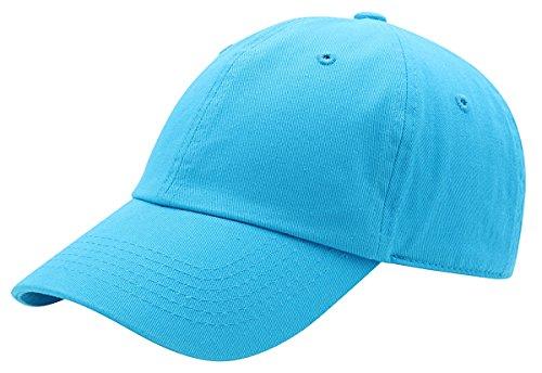 - AZTRONA Baseball Cap for Men Women - 100% Cotton Classic Dad Hat, AQU Aqua