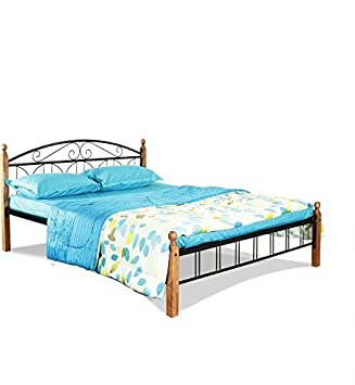202ec3bb2355 Image Unavailable. Image not available for. Colour  FurnitureKraft Georgia  Metal Queen Size Double Bed ...