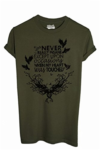 T-Shirt EDGAR ALLAN POE I WAS NEVER REALLY INSANE - FAMOSI by iMage Dress Your Style