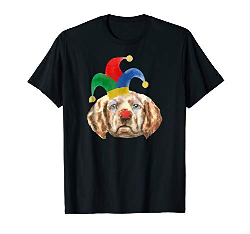 Labrador in Clown Makeup and Jester Hat Tshirt