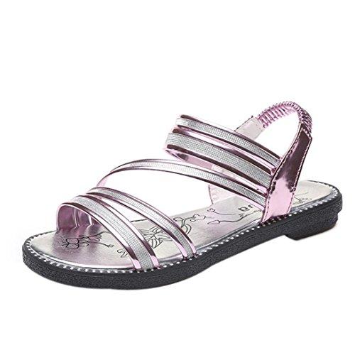 Anxinke Zomer Comfortabele Schoenen Platte Sandalen Voor Dames Paars