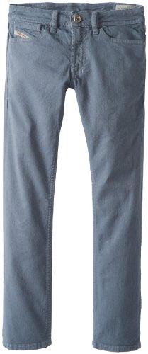 Diesel Big Boys' Shioner Colored Stretch Slim Fit Jean, Monument Grey, 16 Years