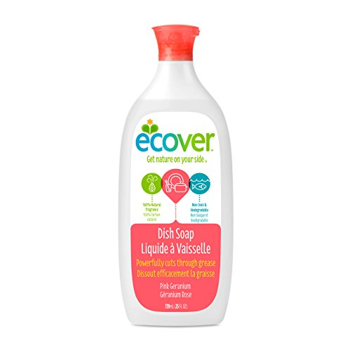 Ecover Dish Soap, Pink Geranium, 25 Ounce (Pack 6)