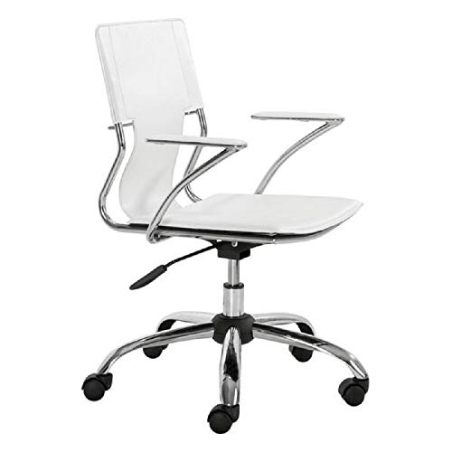 Zuo Modern 205182 Trafico Office Chair, White ()