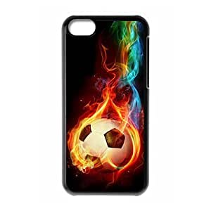 LINMM58281Unique DIY Design Cover Case with Hard Shell Protection for iphone 5/5s case with soccer ball lxa#255158MEIMEI