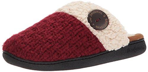 Women's Textured Closed Knit Cabernet Toe Dearfoams Scuff 76wAWqAC