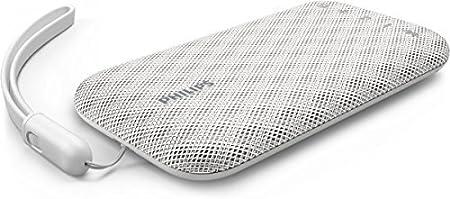 Philips Everplay BT3900W - Altavoz Bluetooth (Potente y portátil, Resistente al Agua, con micrófono, Correa USB) Color Blanco