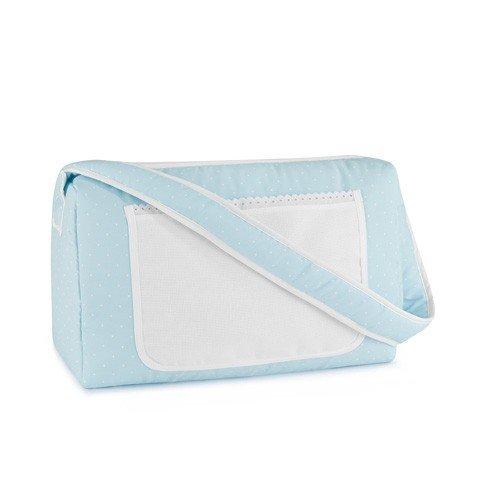 Bolsa Canastilla Azul para bordar a punto de cruz