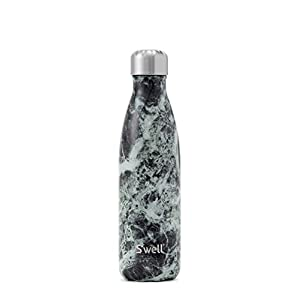 S'well Vacuum Insulated Stainless Steel Water Bottle, 17 oz, Baltic Green Marble
